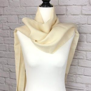 FRANGI Cream Scarf 100% Wool